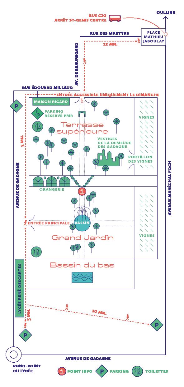 Plan du parc de Beauregard