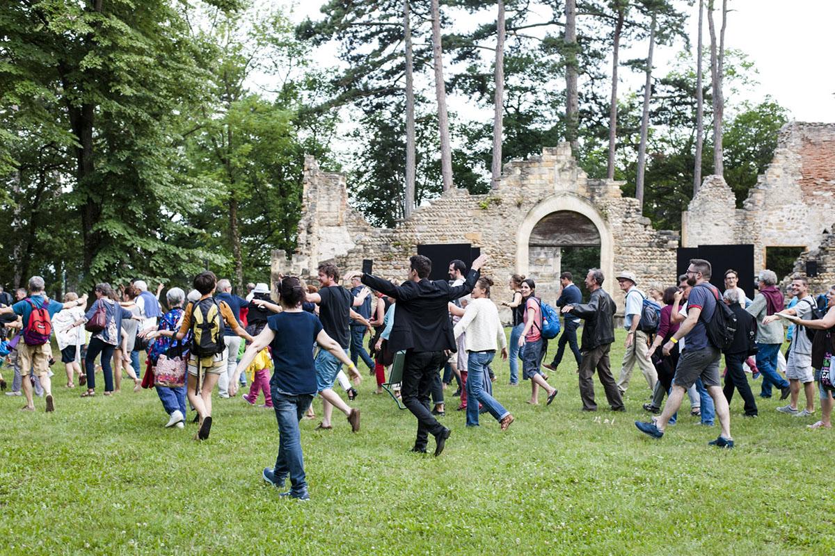 Balade dans le parc Festival du parc de Beauregard