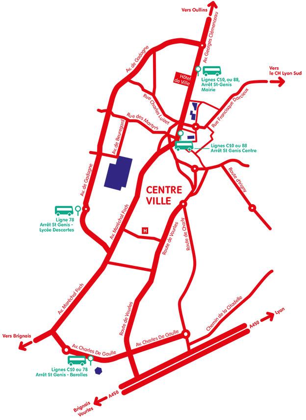 Plan d'accès à La Mouche